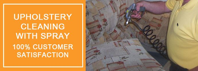 Upholstery Cleaning With Spray